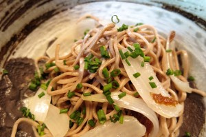 Cold Soba Noodle Salad in Blk Sesame Oil